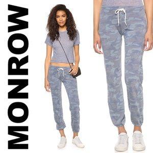❤️ MONROW Blue Camo Vintage Sweatpants Joggers L